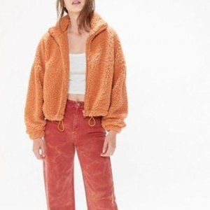 Urban Outfitters Willow Teddy Bear Zip Jacket